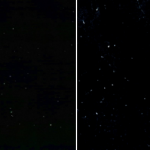 どちらが夜空?