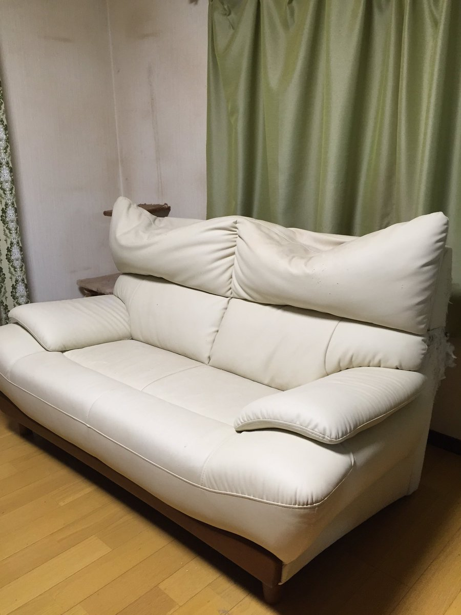 我が家の凹んだソファーとその原因