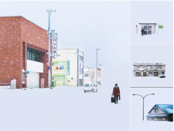 北海道を訪れた外国人カメラマンが捉えた白の世界。