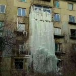 芸術的な「氷瀑」