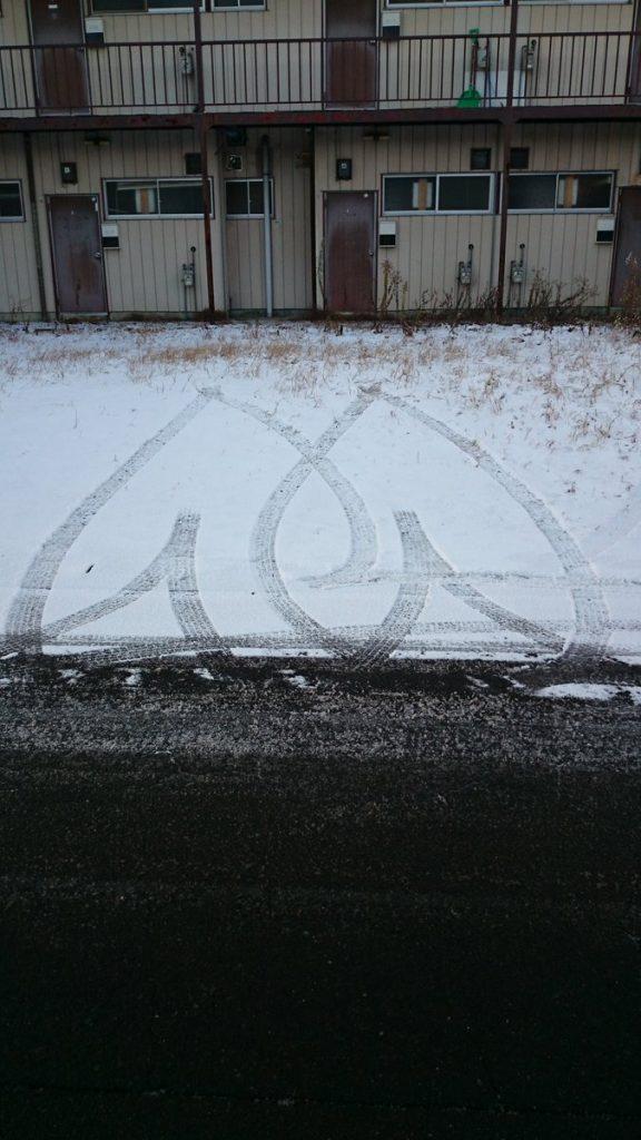 素敵なタイヤ跡