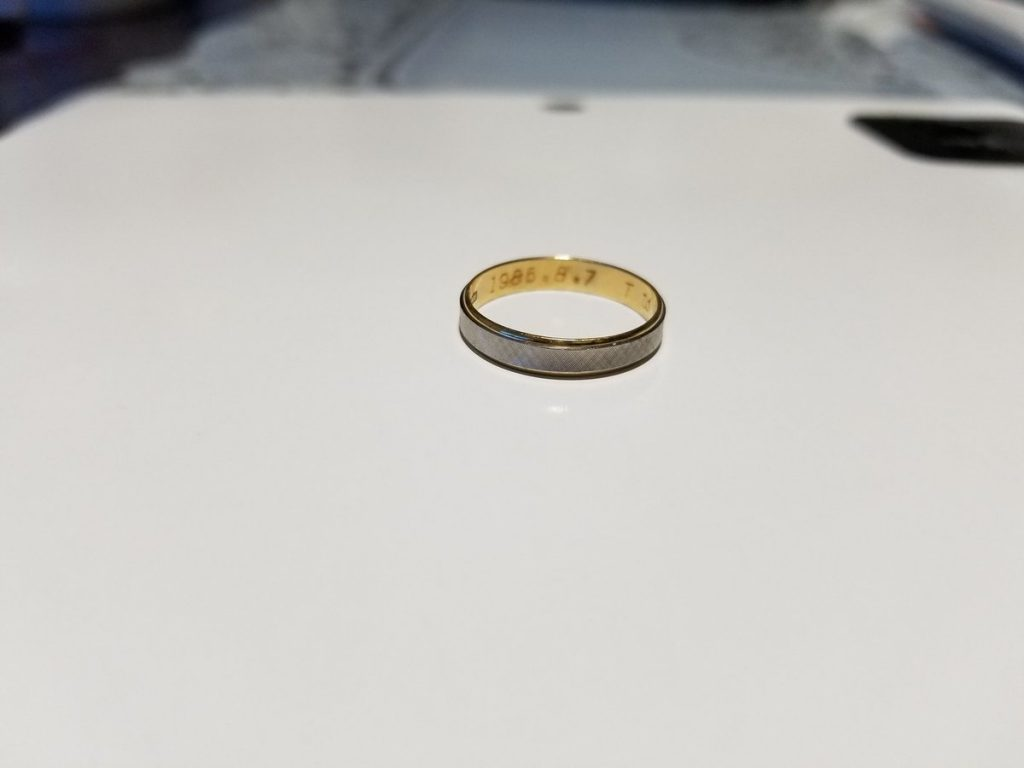 指輪の持ち主を探しています!