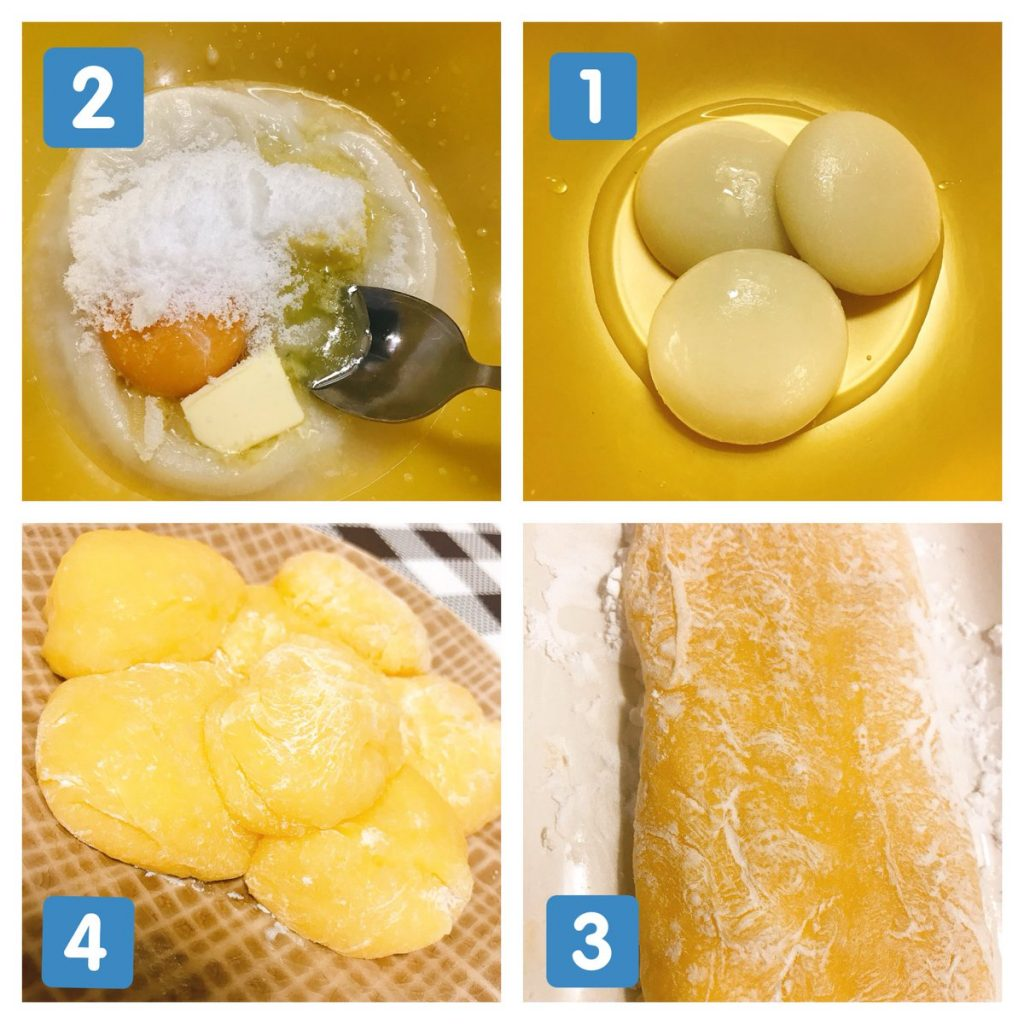電子レンジで作るバター餅
