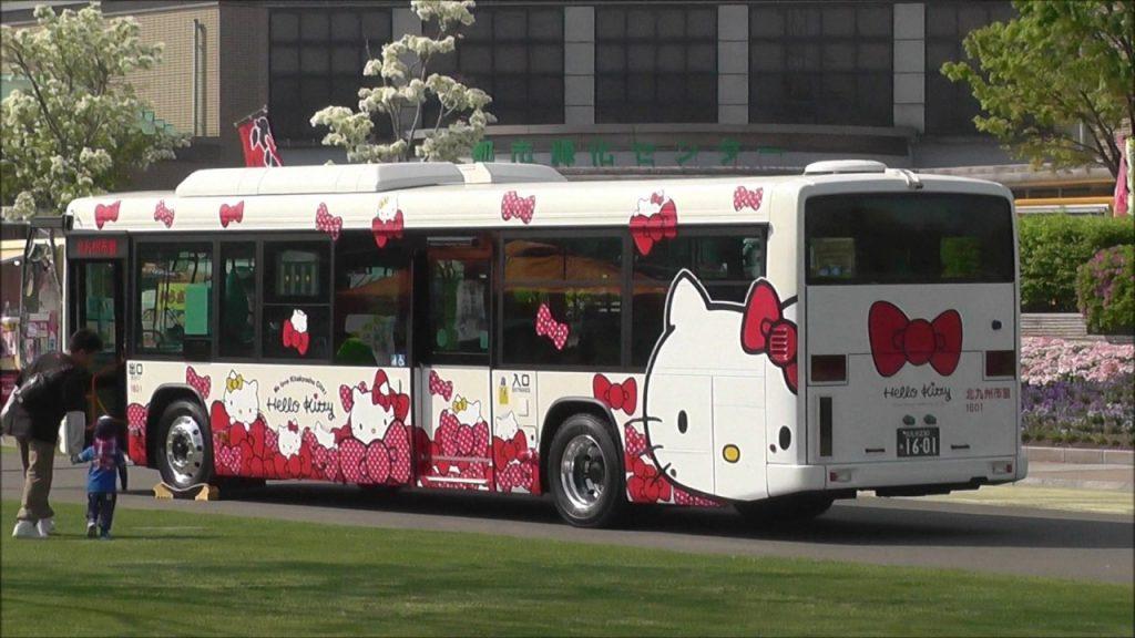 ハローキティーキャラクターバス@北九州市