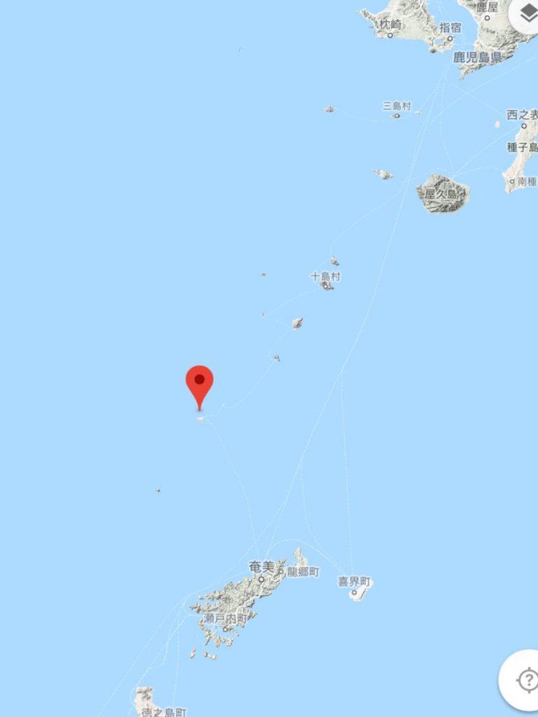 東シナ海で沈没したイランのタンカーからトカラ列島宝島へ原油が漂着