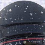 降ってきた雪がそのまま結晶になる寒さ