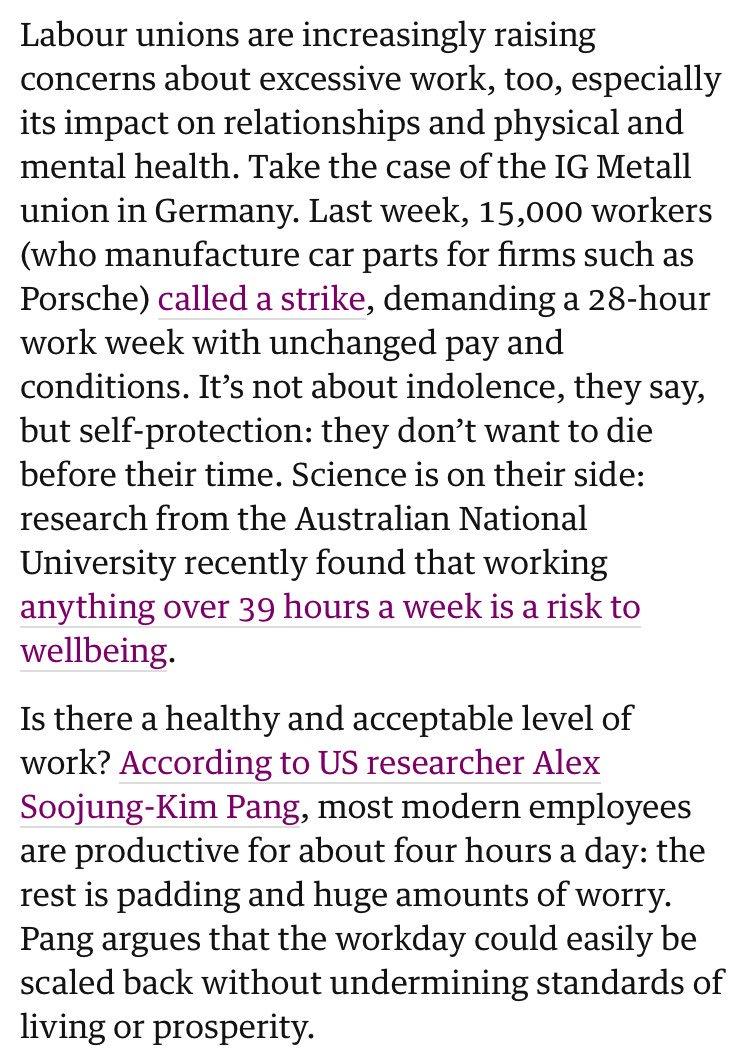 人間の身体は設計上、週39時間以上の労働で壊れてしまう
