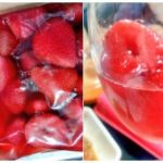 冷凍苺+砂糖+ウイスキー