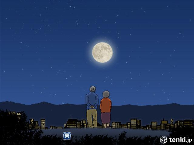 【満月と夜桜の饗宴】今夜はブルームーン