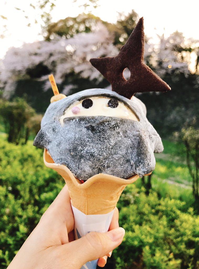 【忍者アイス】金シャチ横丁の宗春ゾーンで販売中(500円)