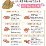 たい焼きの食べ方で分かる性格診断