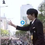 【羽生くん神動画】パレード中の障害物の避け方が華麗過ぎる件