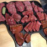 部位が分かりやすく盛りつけられたA5黒毛和牛のお皿