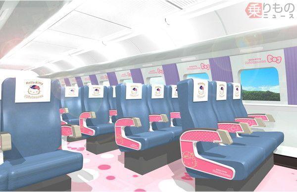 【博多ー新大阪】キティ新幹線、6月30日にデビュー!