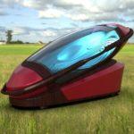 アムステルダムで行われた葬儀業の展示会で世界初の「自殺用カプセル」が公開