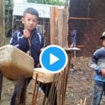 在る物で工夫して楽器を作り、音楽を楽しむ子供たち