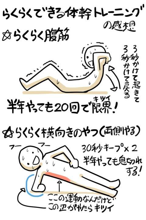 らくらくできる体幹トレーニングの感想