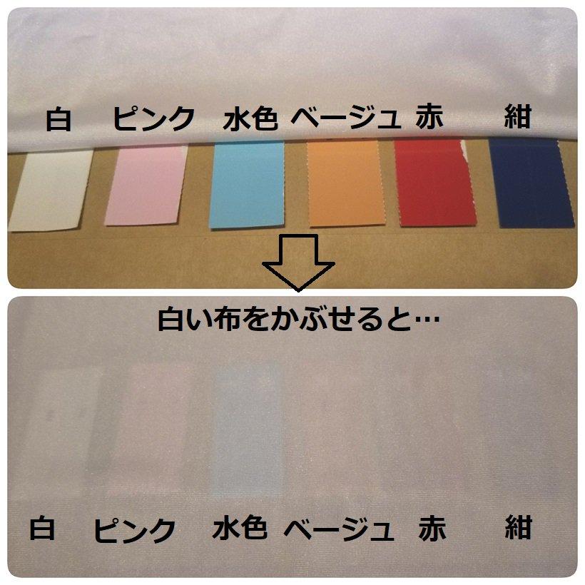 肌よりも薄い淡い色はとっても透けます。