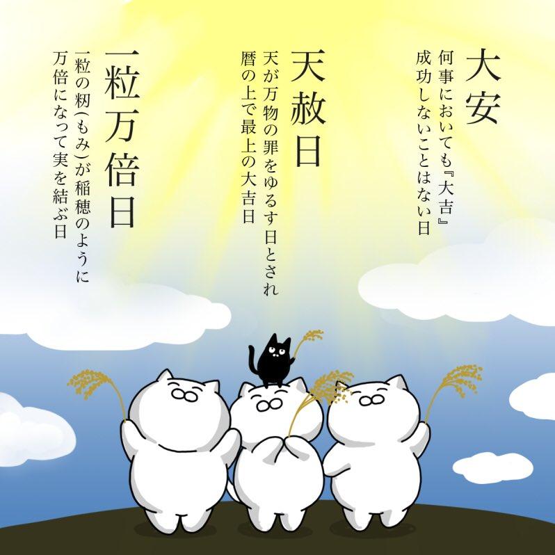 【9/13】大安・天赦日・一粒万倍日の3つが重なる大変に縁起の良い日