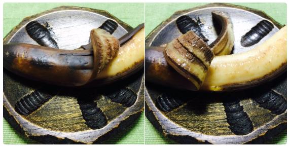 【焼きバナナ】皮が黒くなるまでトースターで焼いたら完成