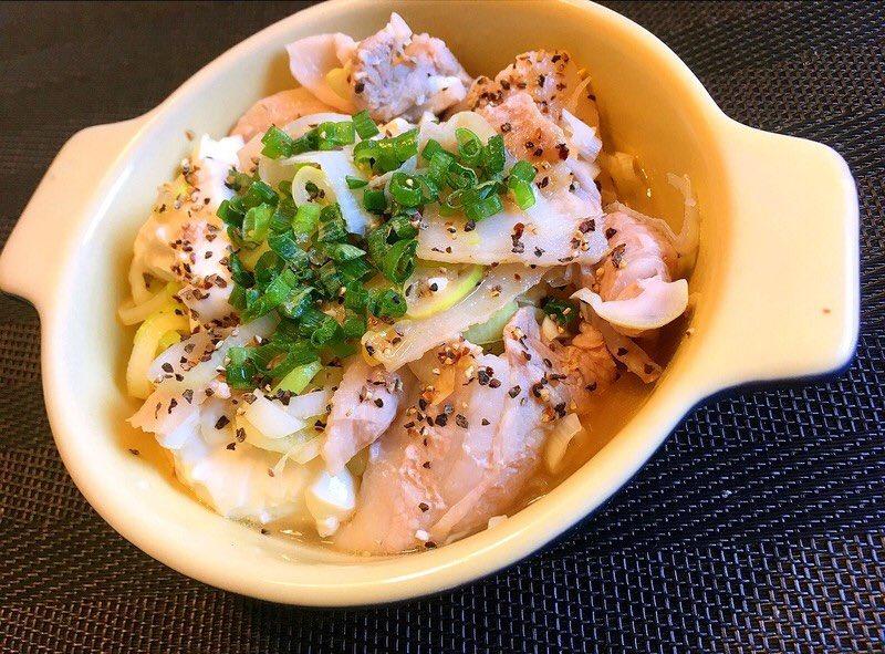 豆腐と豚バラで作るダイエットレシピ【電子レンジで3分】