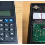 ソーラー電卓風ボタン電池式電卓