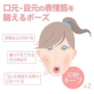 目元・口元の表情筋を鍛えるポーズ