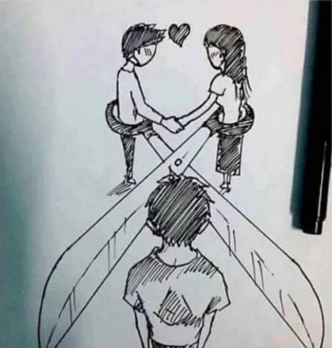 二人が結ばれたら、片思いをしている人は終わり