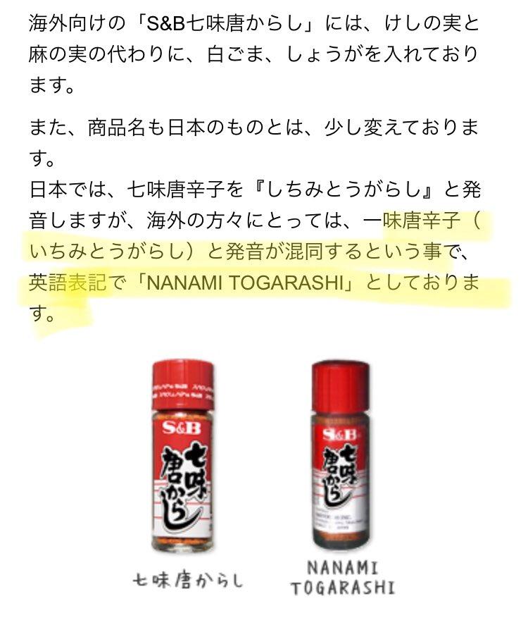 「七味唐辛子」は「ナナミトウガラシ」???