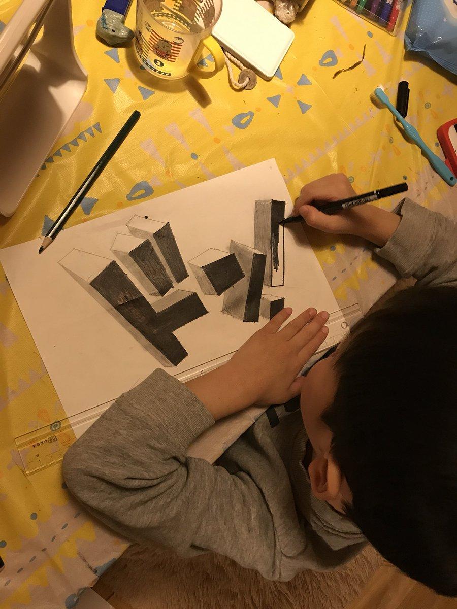 6歳の描いたトリックアートがすごいと話題