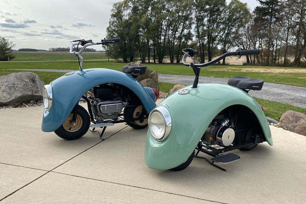 フォルクスワーゲンをリユースしたミニバイク。