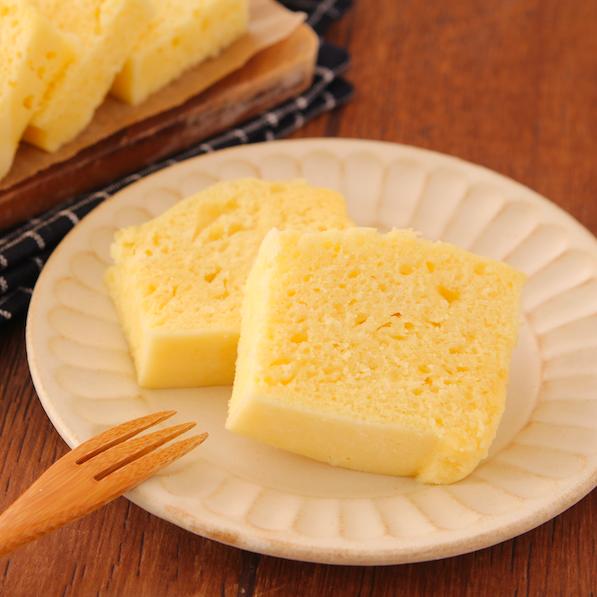 【レンジで5分】ホットケーキMIXで たまご蒸しパン