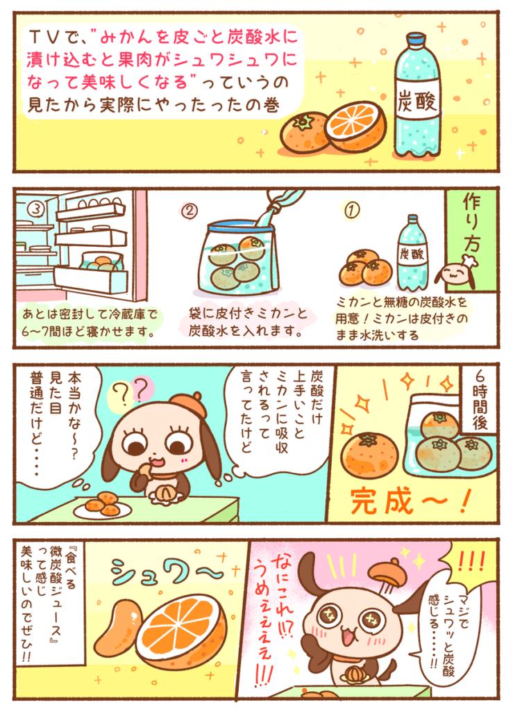 ミカン+炭酸水=果肉シュワシュワミカン!