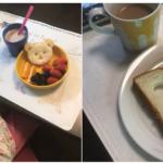 娘の朝ごはんと母の朝ごはん