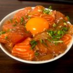 【レシピ】スタミナサーモン漬け丼