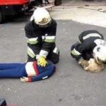 ソーシャルディスタンスに配慮した人命救助の訓練