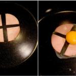 ハムをこう切れば卵が横流れしにくいし圧倒的に食べやすい