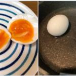フライパンで簡単「黄身がむちむちねちねちの濃い茹で卵」