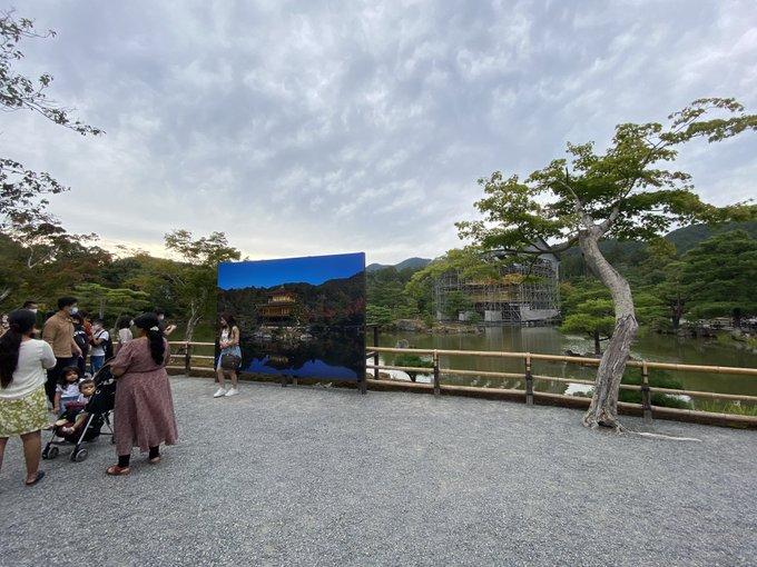 金閣寺は今改修中で拝観料もかかります!