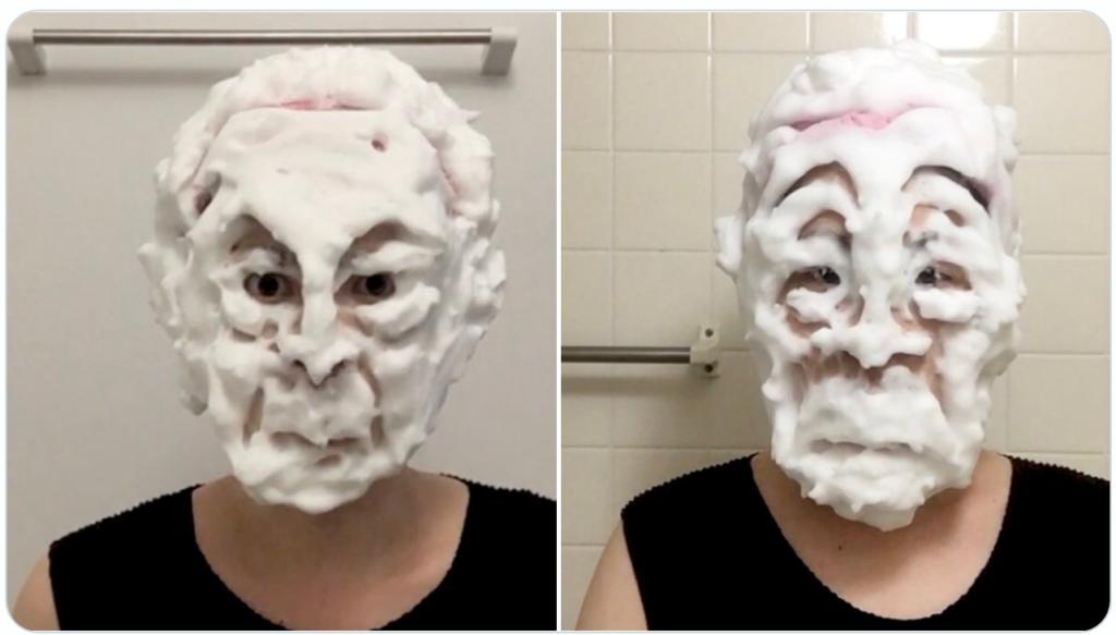 洗顔ものまね「中野渡頭取と箕部幹事長」