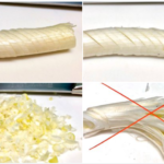 麻婆豆腐やエビチリ用の「長ネギみじん切り」の切り方