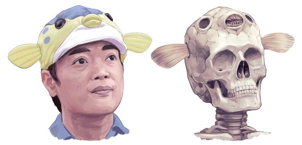 さかなクンさんの頭骨