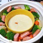 【レシピあり】土鍋でチーズフォンデュをした。