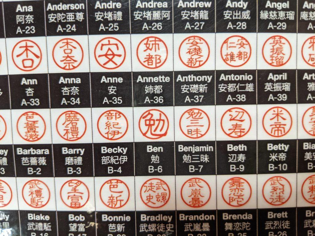 江戸東京博物館で売っている外国人向け印鑑