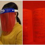 受験生のための、暗記もできるフェイスシールド