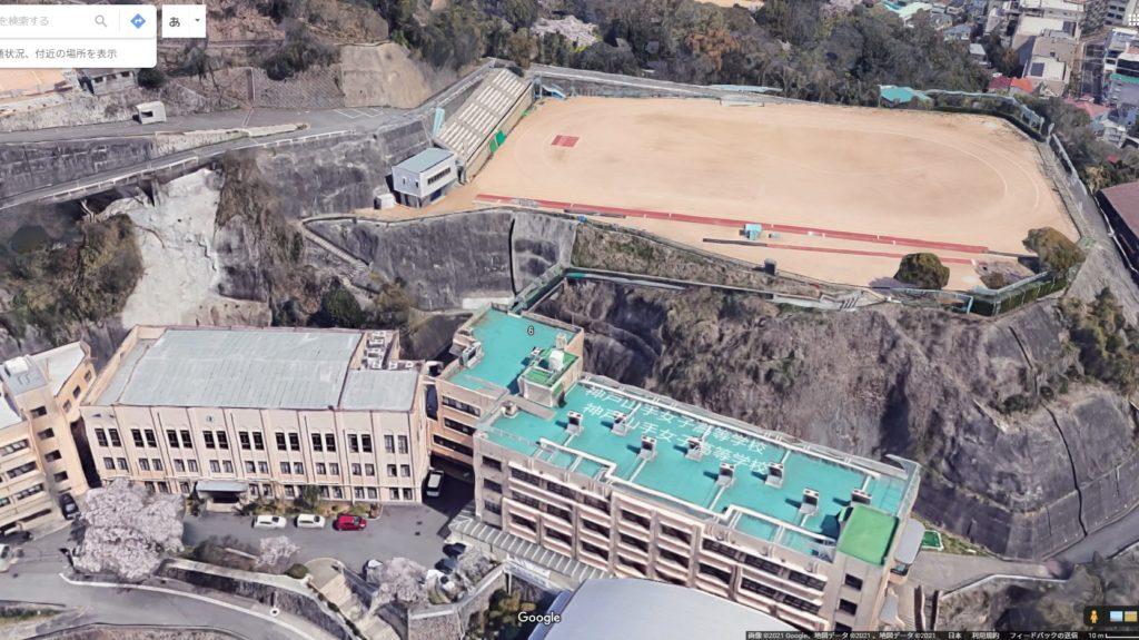 屋上から山上にある校庭にアクセスするの異常すぎる