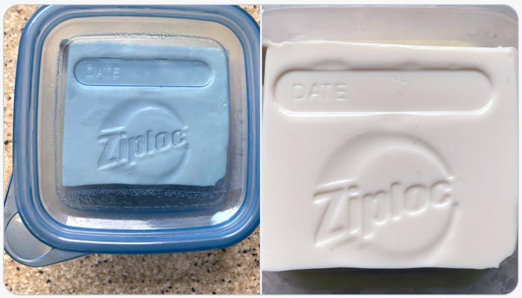 ジップロックの容器に豆腐入れて保存してたら、めちゃかっこよくなってた。