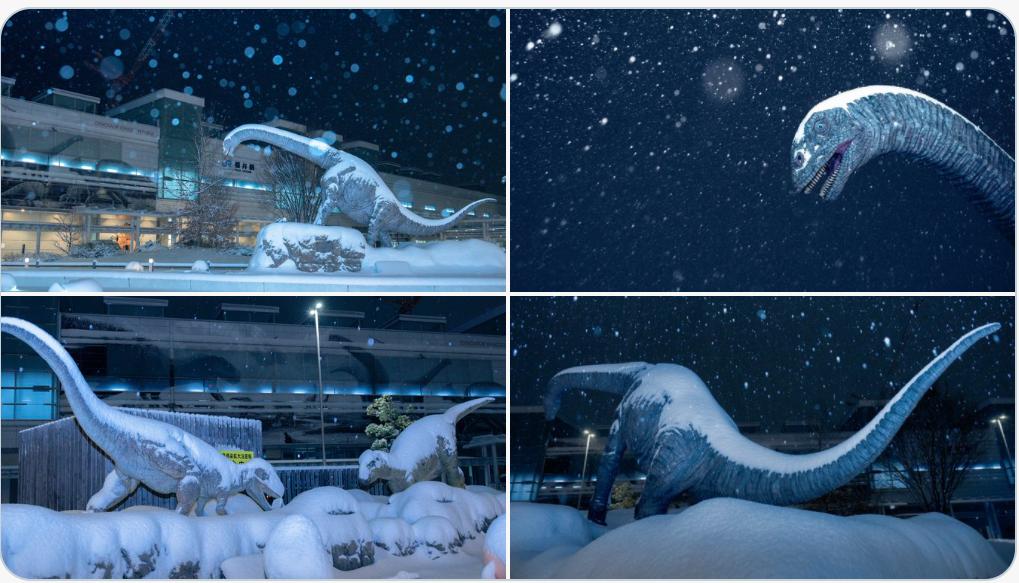 寒波に襲われた福井駅が完全に氷河期でした.