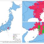 日本地図で表す地域別通勤・通学手段