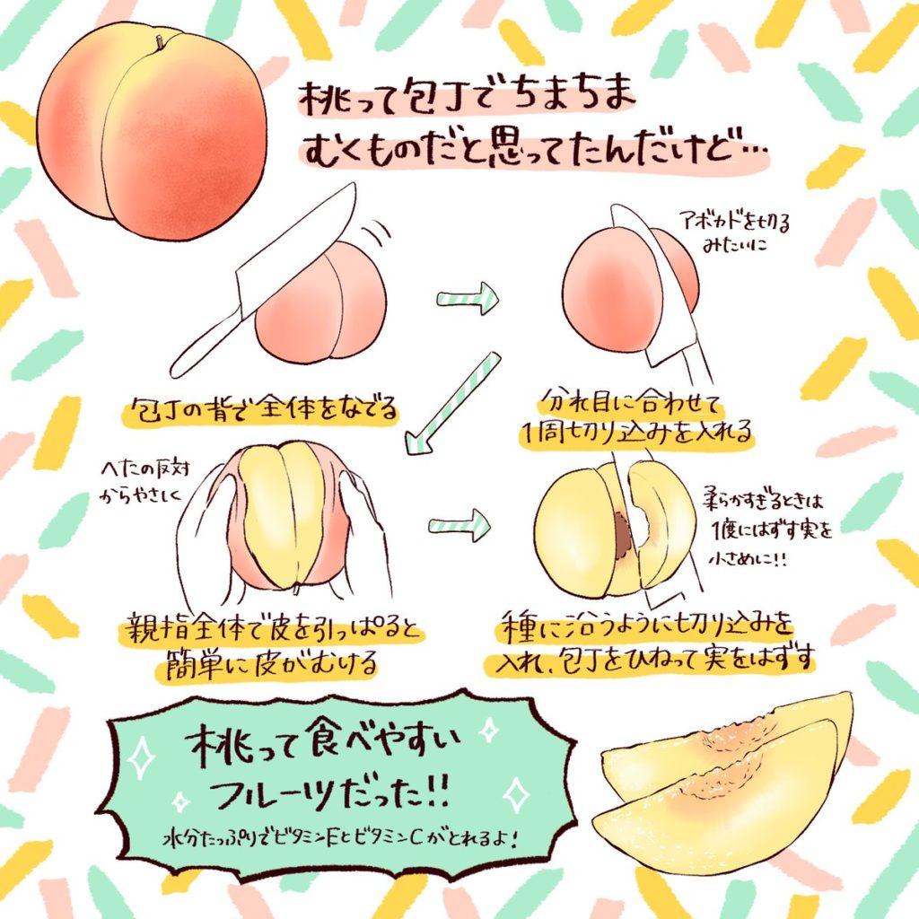 桃の皮を簡単に剥く方法
